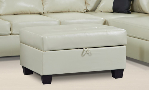 2 PCS CARTER WHITE SECTIONAL WITH ACCENT PILLOWS (LEFT FACING SOFA) - F22W