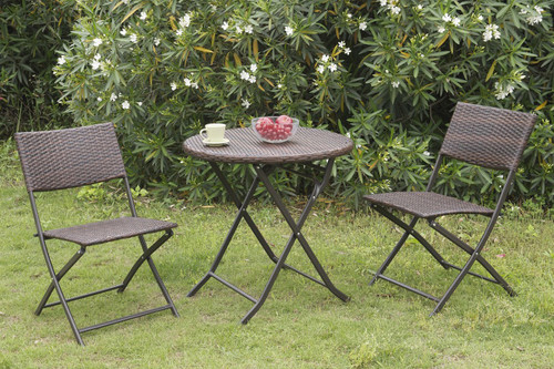 3PC OUTDOOR BISTRO SET STEEL FRAME