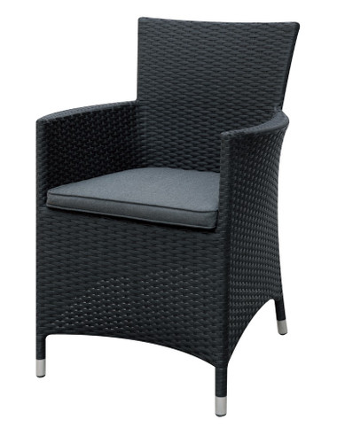BLACK OUTDOOR ARM CHAIR