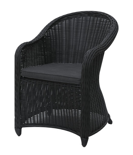 DARK BROWN OUTDOOR ARM CHAIR