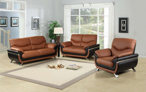 JACKSON BROWN SOFA LOVESEAT WITH CHAIR 3 PCS Set