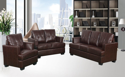 KEVIN BROWN SOFA LOVESEAT WITH CHAIR 3 PCS Set