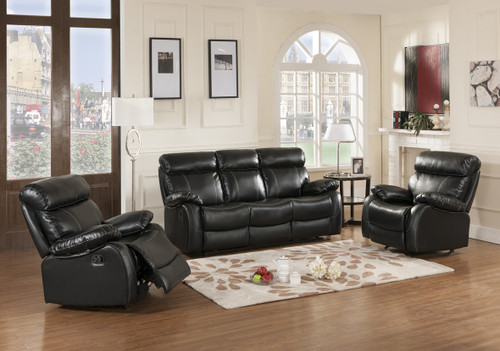 Carter 3 PC Sofa Loveseat And Recliner Set