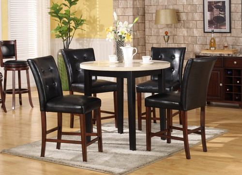 GIOVANNI COUNTER HEIGHT TABLE BAR STOOL 5 PC Set