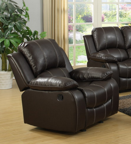 Palermo Single Rocker Recliner in Espresso Brown