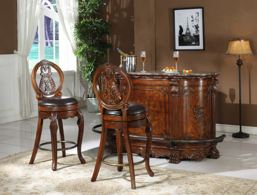Joseph Bar Table & Bar Stool 3 PC Set
