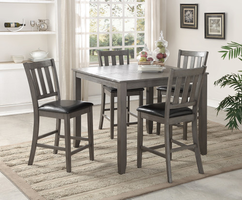 Cosgrove Counter Height Table Top 5 PC Set - Grey