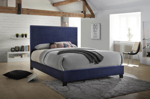 DELORA QUEEN BED NAVY-5264-NV