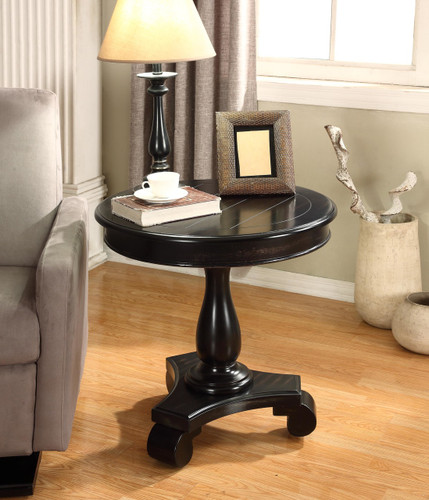 CONSTANCE ROUND END TABLE-BLACK