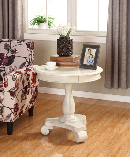 CONSTANCE ROUND END TABLE-IVORY -7167-IV