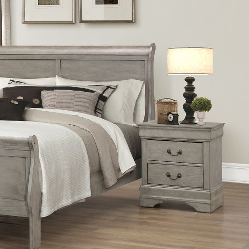 LOUIS PHILIP NIGHT STAND GREY-B3500/2