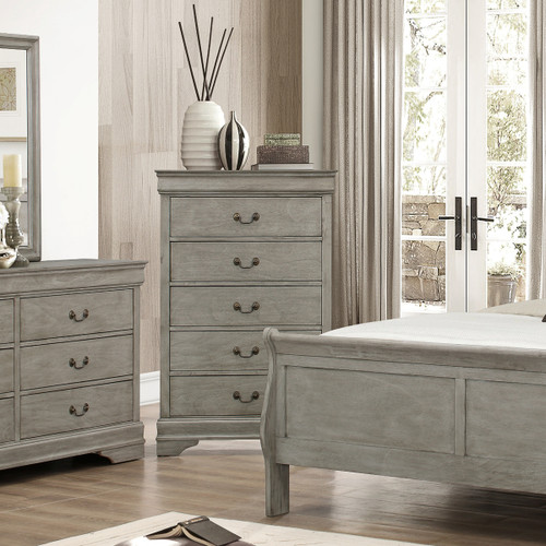 LOUIS PHILIP 5-D CHEST GREY