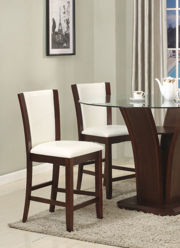 CAMELIA COUNTER HEIGHT CHAIR WHITE 2 PCS SET-1710S/24/WH