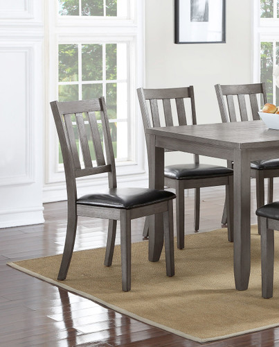 COSGROVE SIDE CHAIR GREY 2 PCS SET