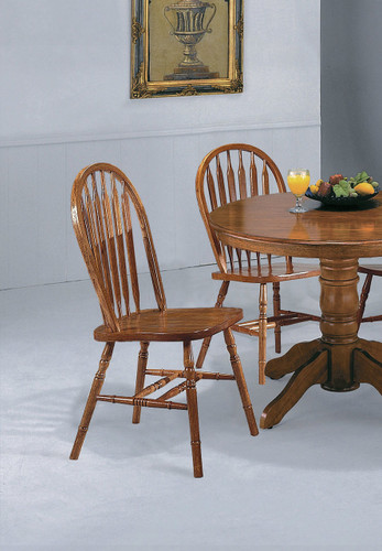 DARK OAK ARROW WINDSOR CHAIR 2 PCS SET