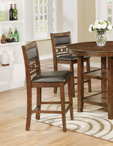 CALLY COUNTER HEIGHT CHAIR 2 PCS SET-2716S/24