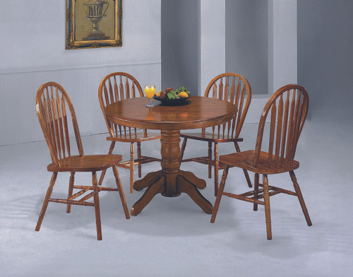 "ARROW BACK WINDSOR CHAIR 36"" RTA 2 PCS SET-2305D/OAK/RTA"