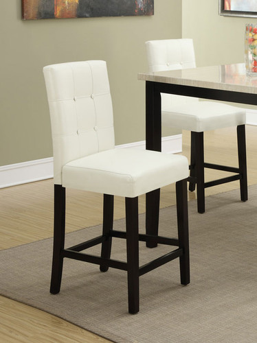 CREAM COUNTER HEIGHT CHAIR 2 PCS SET