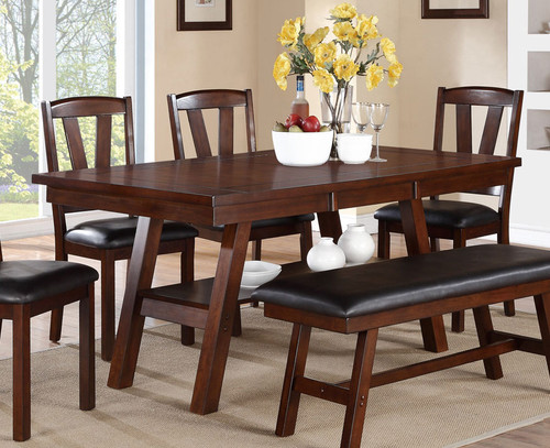DARK WALNUT FINISH DINING TABLE