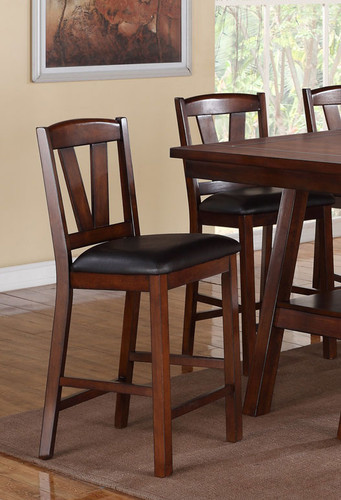 DARK WALNUT COUNTER HEIGHT CHAIR 2 PCS SET