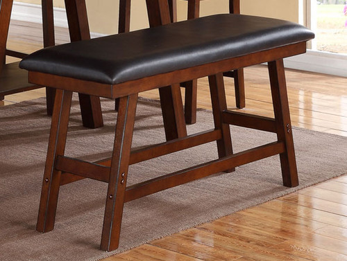 DARK WALNUT FINISH COUNTER HEIGHT BENCH-F1334/W/N
