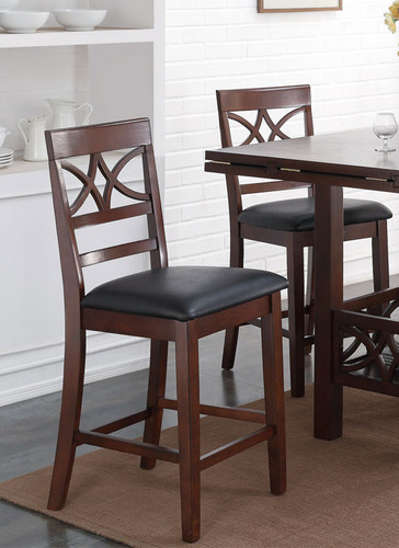 DIAMOND COUNTER HEIGHT CHAIR 2 PCS SET