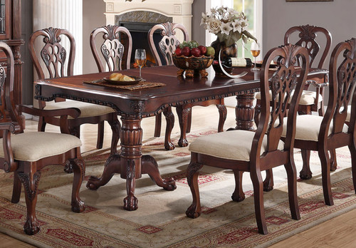 CHERRY WOOD RECTANGULAR SHAPE DINING TABLE