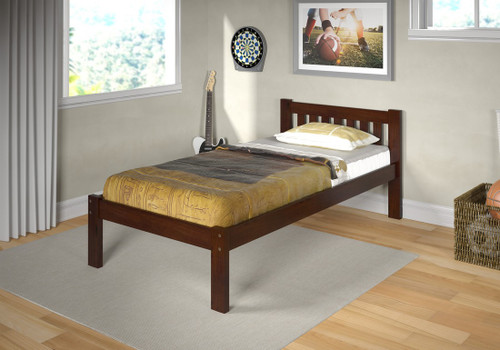 SOLID WOOD TWIN MISSION BED-1510