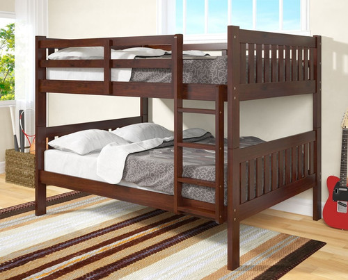 ESPRESSO FULL OVER FULL BUNK BED