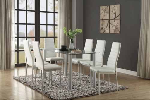 FLORIAN COLLECTION 5PCS DINING SET WHITE COLOR