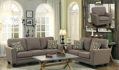 ADAIR COLLECTION 2PCS SOFA AND LOVESEAT GRAY FABRIC COLOR