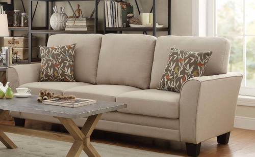 ADAIR COLLECTION 2PCS SOFA AND LOVESEAT BEIGE FABRIC COLOR