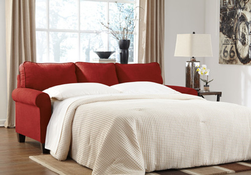 ASHLEY QUEEN RED SLEEPER SOFA-271-QUEEN-R