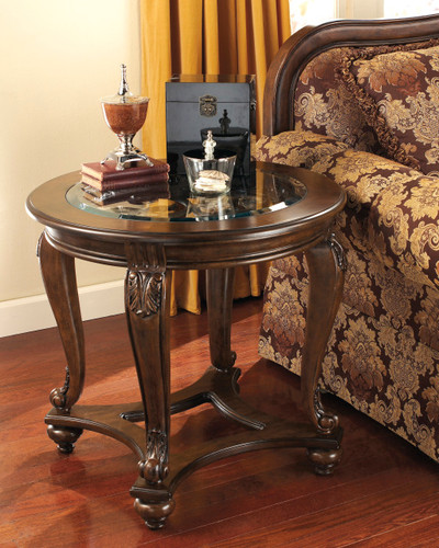 GABRIELE GLASS TOP END TABLE-T499-END