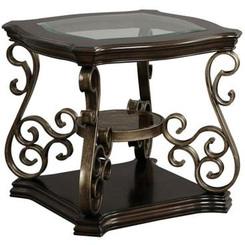 MARCO DARK BROWN END TABLE-21931-END