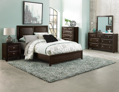 SUMMERLIN ESPRESSO FINISH BEDROOM 4 PCS SET-1908