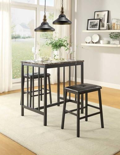 EDGAR COUNTER HEIGHT TABLE 3 PCS SET