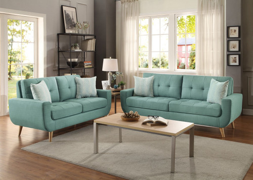 DERYN COLLECTION SOFA AND LOVE SEAT 2 PCS SET