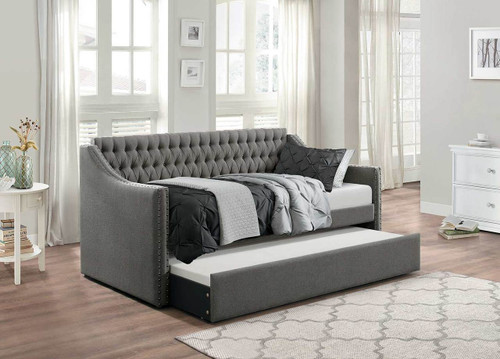 TULNEY DAYBED WITH TRUNDLE DARK GREY