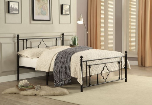 MORRIS COLLECTION METAL PLATFORM BED-2051TBK