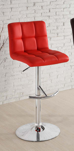 RIDE RED LEATHER SWIVEL STOOL 2 PCS SET-1157RED