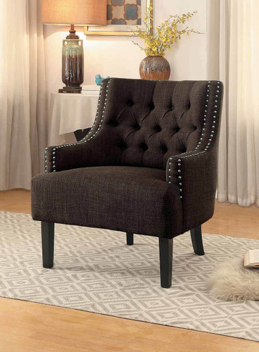 CHARISMA ACCENT CHAIR CHOCOLATE-1194CH