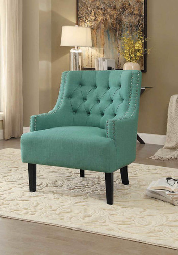 CHARISMA ACCENT CHAIR TEAL-1194TL