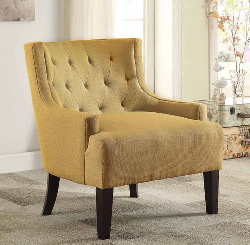 DULCE ACCENT CHAIR MUSTARD-1233MD