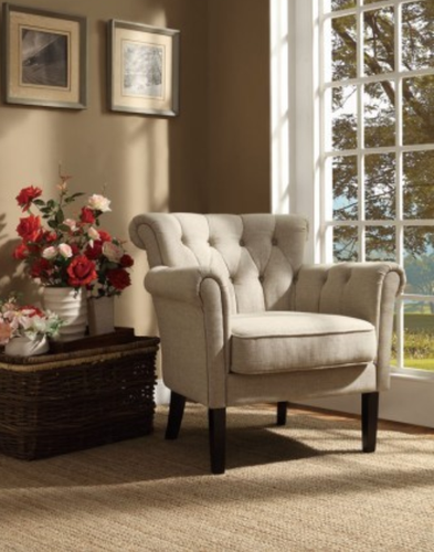 OATMEAL ACCENT CHAIR  BARLOWE COLLECTION