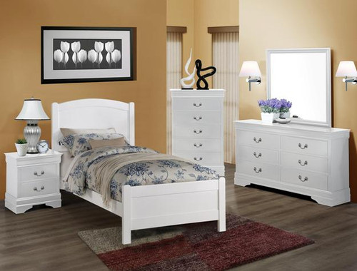 HELENE TWIN WHITE BEDROOM COLLECTION