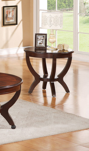 BROWNSTOWN ROUND END TABLE 2 PCS SET