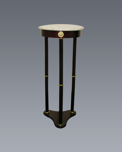 ROUND WHITE MARBLE STAND-2034WH