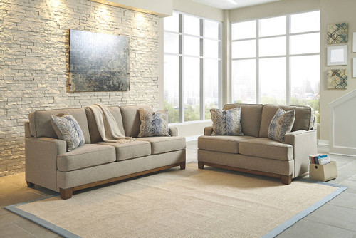 HILLSWAY PEBBLE COLLECTION SOFA AND LOVE SEAT 2 PCS SET