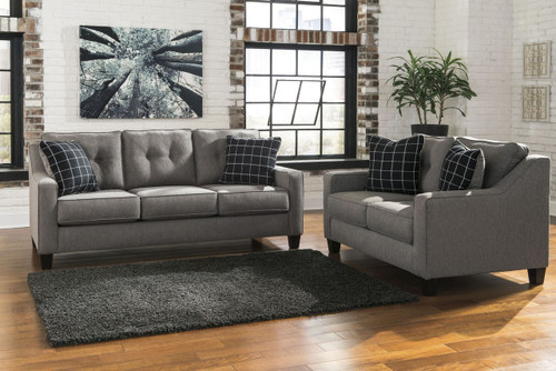 BRINDON CHARCOAL COLLECTION SOFA AND LOVE SEAT 2 PCS SET